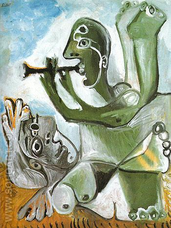 Laubade 1967 - Pablo Picasso reproduction oil painting
