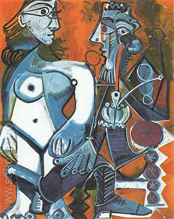 Nude and Smoker 1968 - Pablo Picasso reproduction oil painting