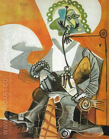 Musketeer with Pipe 1968 - Pablo Picasso reproduction oil painting