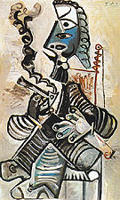 The Smoker 1968 - Pablo Picasso reproduction oil painting