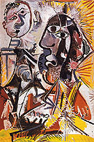 Large Heads 1969 - Pablo Picasso reproduction oil painting