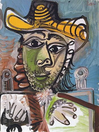 Man in an Armchair 1965 - Pablo Picasso reproduction oil painting