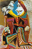 Musketeer with Dove 1969 - Pablo Picasso reproduction oil painting