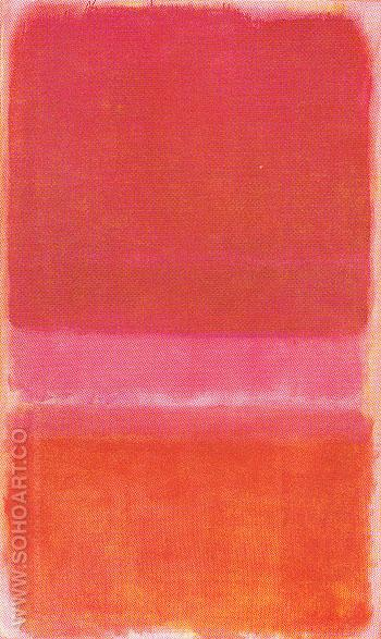 Untitled Red 1956 - Mark Rothko reproduction oil painting