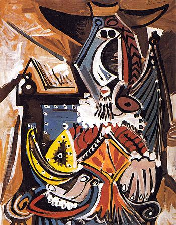 The Man with the Golden Helmet 1969 - Pablo Picasso reproduction oil painting