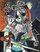 Cavalier with Pipe The Matador 1970 - Pablo Picasso reproduction oil painting