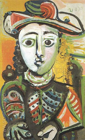 Seated Girl 1970 - Pablo Picasso reproduction oil painting
