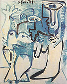Couple 1970 - Pablo Picasso reproduction oil painting