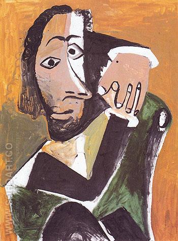 Seated Man 1971 - Pablo Picasso reproduction oil painting