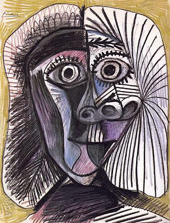 Head 1972 - Pablo Picasso reproduction oil painting