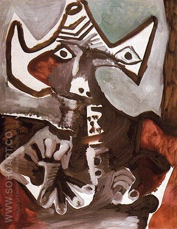 Mardi Gras 1972 - Pablo Picasso reproduction oil painting