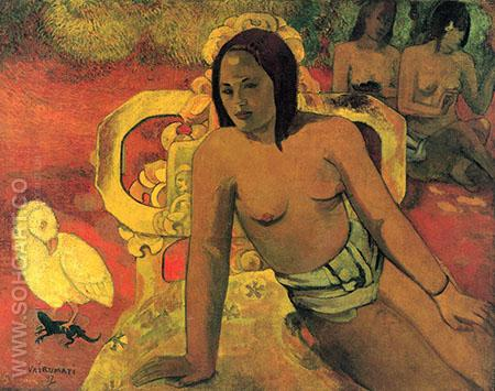 Vairumati c1897 - Paul Gauguin reproduction oil painting