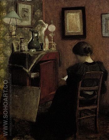 Woman Reading 1895 - Henri Matisse reproduction oil painting