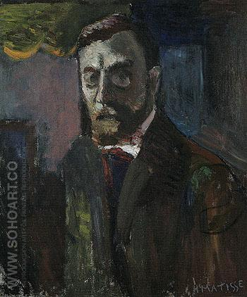 Self Portrait 1900 - Henri Matisse reproduction oil painting
