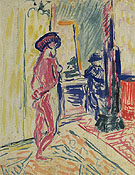 Marguet Painting a Nude c1904 - Henri Matisse reproduction oil painting