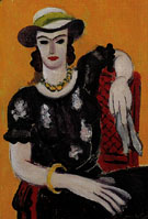 Woman in a Red Chair 1936 - Henri Matisse reproduction oil painting
