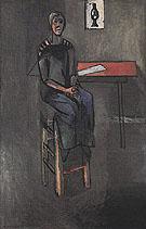 Woman on a High Stool Germaine Raynal 1914 - Henri Matisse