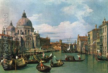 The Grand Canal and the Church of the Salute,1730 - Giovanni Antonio Canal Canaletto reproduction oil painting
