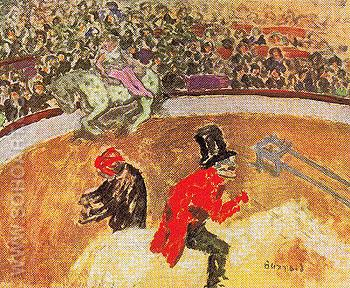 At the Circus c1900 - Pierre Bonnard reproduction oil painting