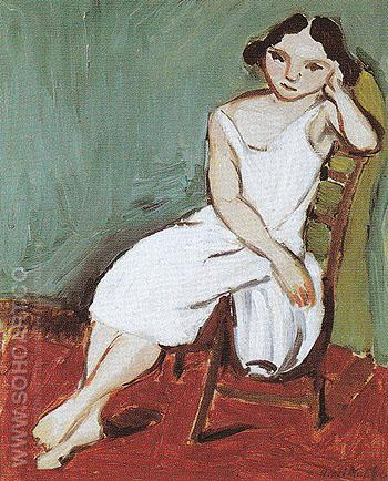 Seated Girl 1909 - Henri Matisse reproduction oil painting