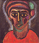 Head of an Adolescent Boy 1912 - Alexei von Jawlensky