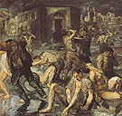 Scene from the Earthquake in Messina 1909 - Max Beckmann