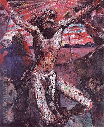 The Red Christ 1922 - Lovis Corinth reproduction oil painting
