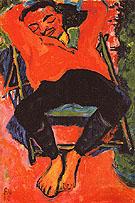Pechstein Asleep 1910 - Erich Heckel