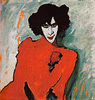 Portrait of the Dancer Alexander Sacharoff 1909 - Alexei von Jawlensky