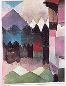 Fohn Wind in Marcs Garden 1915 - Paul Klee reproduction oil painting