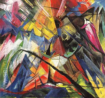 Tyrol c1913 - Franz Marc reproduction oil painting