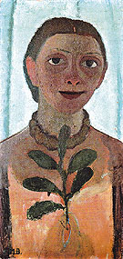 Self Portrait with Camelia Sprig c1906 - Paula Modersohn-Becker