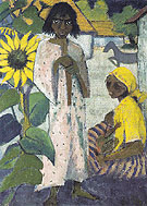 Gypsies with Sunflowers 1927 - Otto Mueller reproduction oil painting