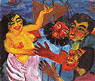 The Legend of St Maria Aegyptiaca 1 1912 - Emile Nolde reproduction oil painting