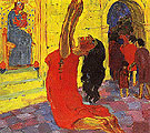 The Legend of St Maria Aegyptiaca2 1912 - Emile Nolde reproduction oil painting