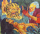 The Legend of St Maria Aegyptiaca3 1912 - Emile Nolde reproduction oil painting