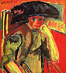 Portrait of Rosa Schapire 1911 - Karl Schmidt-Rottluff reproduction oil painting