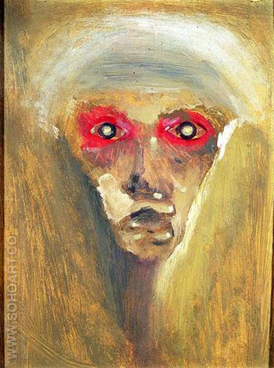 The Red Gaze 1910 - Arnold Schoenberg reproduction oil painting