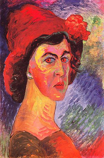 Self Portrait c1910 - Marianne von Werekfin reproduction oil painting