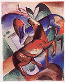 Horse Donkey 1912 - Franz Marc reproduction oil painting