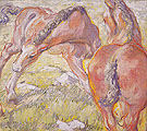 Mare with a Foal 1909 - Franz Marc reproduction oil painting