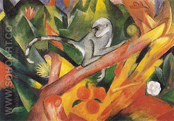 The Monkey 1912 - Franz Marc reproduction oil painting
