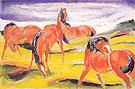 Grazing Horses III 1910 - Franz Marc