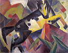 Leaping Horse 1912 - Franz Marc reproduction oil painting