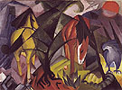 Horses and an Eagle 1912 - Franz Marc reproduction oil painting