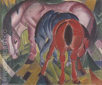 Mare with Foals 1912 - Franz Marc reproduction oil painting