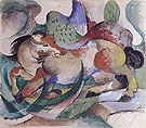 Leaping Horse 1913 - Franz Marc reproduction oil painting