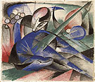 Dreaming Horse 1913 - Franz Marc reproduction oil painting
