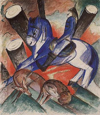 Saint Julien Lhospitalier 1913 - Franz Marc reproduction oil painting