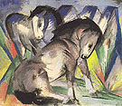 Two Horses 1913 - Franz Marc reproduction oil painting
